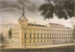Palacio del Marqués de Alcañices - Palacio de Alcañices (c. 1880s) by Juan José Zapater Rodríguez.