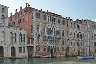 Palazzo Giustinian palace in Dorsoduro, Italy
