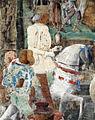 Palazzo schifanoia, salone dei mesi, 09 settembre (ercole de' roberti), borso in parata 04 borso.jpg