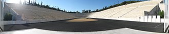 1896 Summer Olympics - Panorama of the Panathenaic Stadium