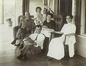 Mayodan, North Carolina - The Pannill family on the porch of their home, Mayodan, 1911