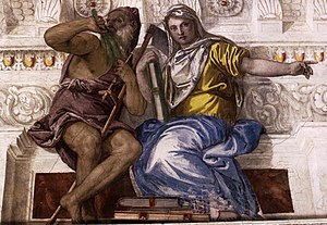 Paolo Veronese - Saturn (Time) and Historia - WGA24908