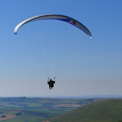 Paragliding off Swyre Head - geograph.org.uk - 899794