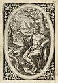 Paris met de twistappel in zijn hand en in de achtergrond twee stieren. NL-HlmNHA 1477 53008367.JPG