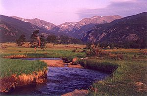 Big Thompson River - The headwaters of the Big Thompson River are in Rocky Mountain National Park.