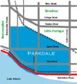 Parkdale Toronto map.png