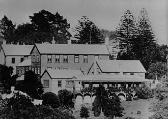 General Assembly House - The collection of buildings in ca 1900 when they were in use by the Auckland University College