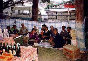 Sho Dun Festival - Partying at Sho Dun Festival, Norbulingka, 1993