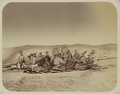 Pastimes of Central Asians. Group of Male Musicians Posing with Several Batchas, or Dancing Boys WDL10830.png