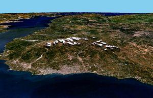 Δορυφορική φωτογραφία της Πάτρας από τη NASA