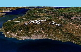 Patras - Satellite view of Patras.
