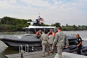 New York Naval Militia - Image: Patrol boat at JFK airport, NY