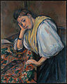 Paul Cézanne (French - Young Italian Woman at a Table - Google Art Project.jpg