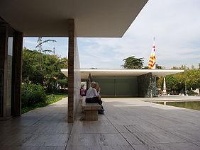 Pabellón de Alemania en la Exposición Universal de Barcelona 1929. Arquitecto: Mies van der Rohe.