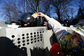 Peaceful gesture performed by protester during clashes in Kyiv, Ukraine. Events of February 18, 2014.jpg