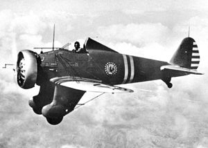 Boeing P-26 Peashooter - P-26 Peashooter in flight