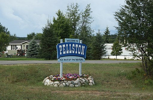 Pellston Michigan Welcome Sign