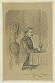 """Pencil Drawing """"Gen. George B. McClellan at Grafton"""" by Pierre Morand.jpg"""