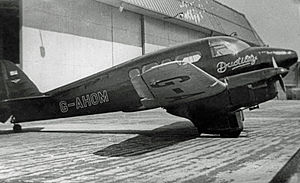 Percival Petrel - Ex RAF Petrel operated in the UK in 1949 by Ductile Steels as an executive transport