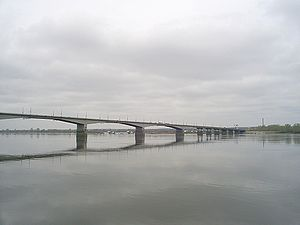 Ural economic region - Bridge over the Kama River near Perm