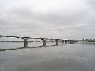 Ural economic region - Bridge over the Kama River near Perm