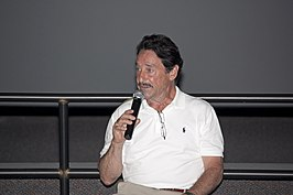 Peter Cullen aan het woord in het Kennedy Space Center in 2011