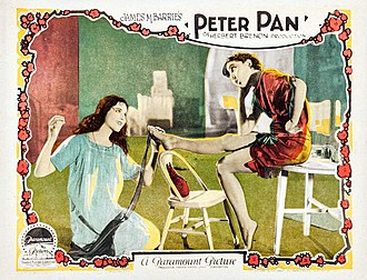 Peter Pan (1924 film) - Mary Brian as Wendy Darling and Betty Bronson as Peter Pan
