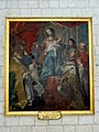 Picquigny (80), collégiale Saint-Martin, chœur, tableau - L'Institution du Rosaire, par Gaspard de Craÿer, Gand, 1651.jpg