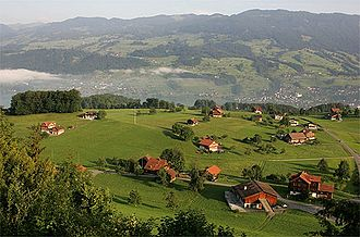 Sarnen - Flüeli-Ranft village above Sarnen.