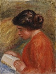 Young Woman Reading (Jeune femme lisant, buste)