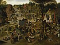 Pieter Brueghel the younger (1564-1565-1637-1638) - Village Festival in Honour of Saint Hubert and Saint Anthony - 1192 - Fitzwilliam Museum.jpg