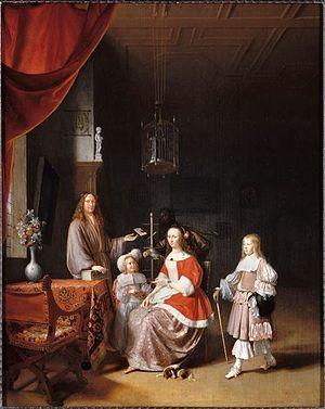 Pieter Cornelisz van Slingelandt - Image: Pieter Cornelisz van Slingelandt Family portrait of Johannes Meerman