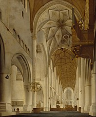 The Interior of St Bavo's Church, Haarlem