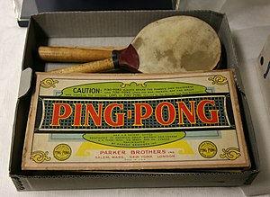 Table tennis - Parker Brothers Ping-Pong game