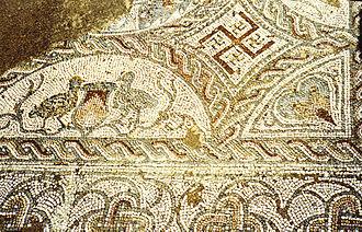 Roman ruins of Pisões - Image: Pisões Mosaic