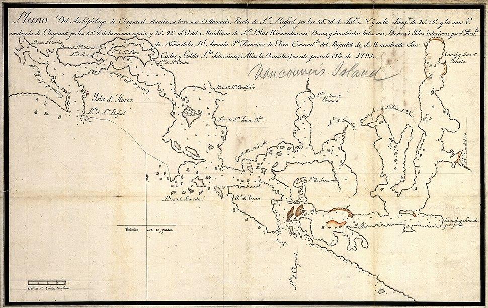 Plano del Archipielago de Clayocuat 1791