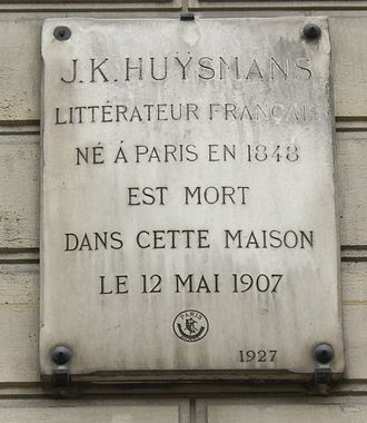 Joris-Karl Huysmans - Commemorative plaque in 31 rue Saint-Placide, Paris, 6e