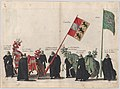 Plate 44- Men with heraldic flags and horses from Carinthia and Styria marching in the funeral procession of Archduke Albert of Austria; from 'Pompa Funebris ... Alberti Pii' MET DP874754.jpg