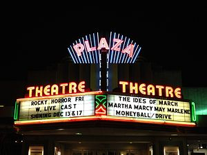 Highland Avenue (Atlanta) - Plaza Theatre at Briarcliff Plaza, southwest corner of North Highland and Ponce de Leon Avenue