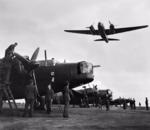 Polish Wellington ground crew RAF Hemswell June 1943 IWM CH 10456.png
