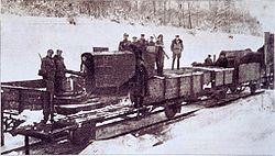 Polski improwizowany pociąg pancerny, zima 1919/1920