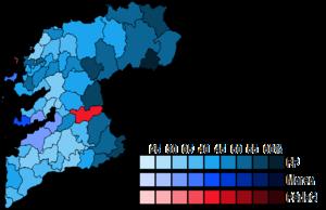 Pontevedra (Congress of Deputies constituency) - Image: Pontevedra Municipal Map Congress 2015