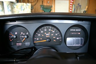 Pontiac Grand Am - The standard 1988 Pontiac Grand Am dash.