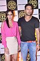 Pooja Chopra & Yuvraj Singh at the re-launch of Gold's Gym.jpg