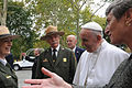 Pope Francis with Sally Jewell (21584700580).jpg