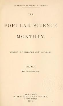 Popular Science Monthly Volume 45.djvu