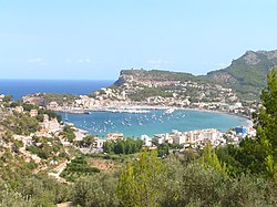 Port de Sóller viewed from hills to the south