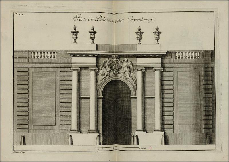 file port du palais du petit luxembourg pl45 livre d 39 architecture par g boffrand. Black Bedroom Furniture Sets. Home Design Ideas
