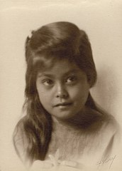 Portrait of Young Hawaiian Girl, toned gelatin silver print, 1909, signed in pencil on lower right.jpg