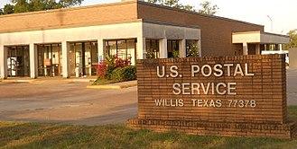 Willis, Texas - Willis Post Office, Willis, Texas 77378